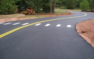 fresh lines on roadway