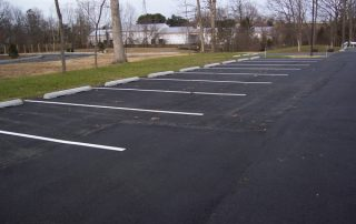 fresh painted parking area