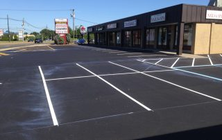 new line striping by nail salon
