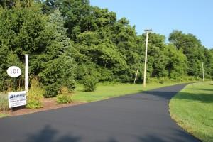 freshly coated road