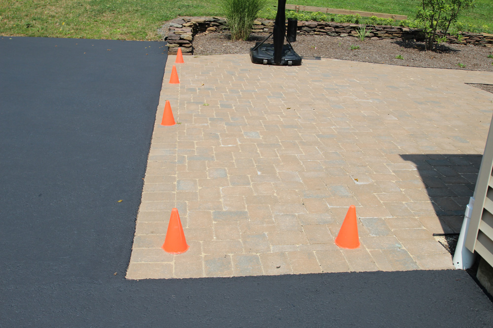 paver area of driveway