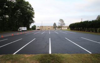 fresh line painting on parking area