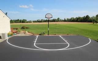 line striping on basketball court
