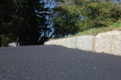 brick edgers by asphalt